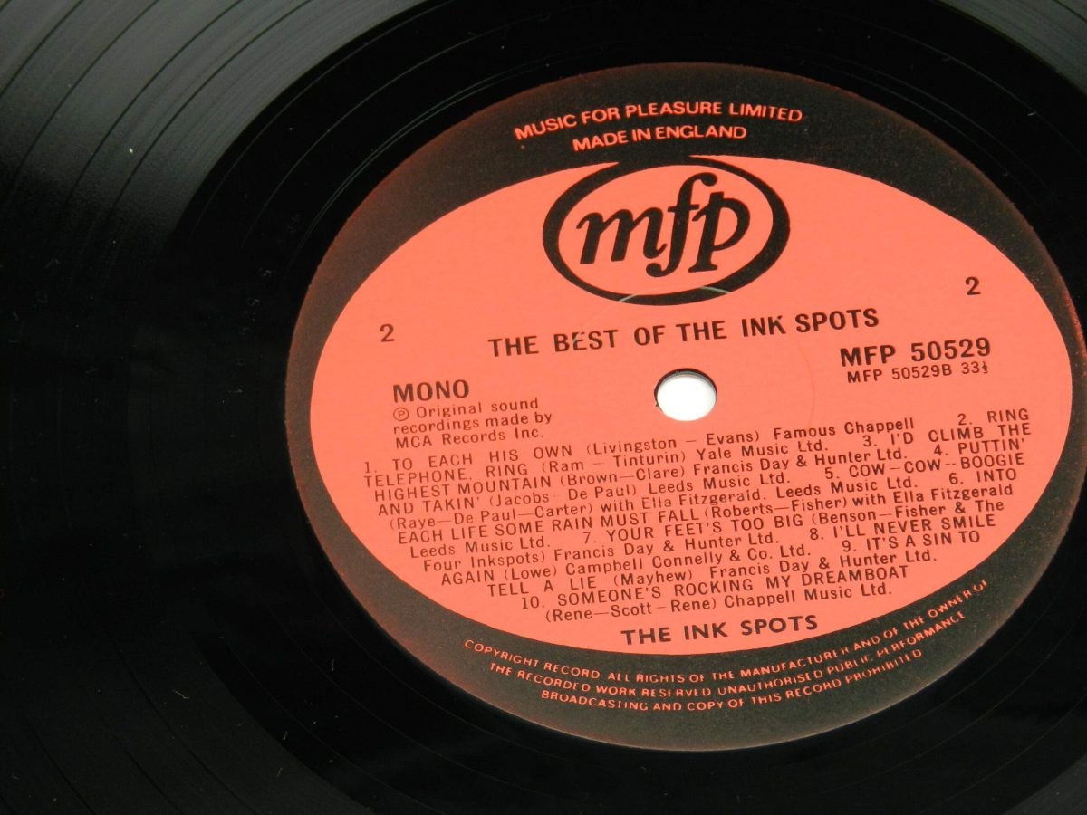 The Ink Spots – The Best Of The Ink Spots 20 Classic Tracks vinyl record side B label scaled