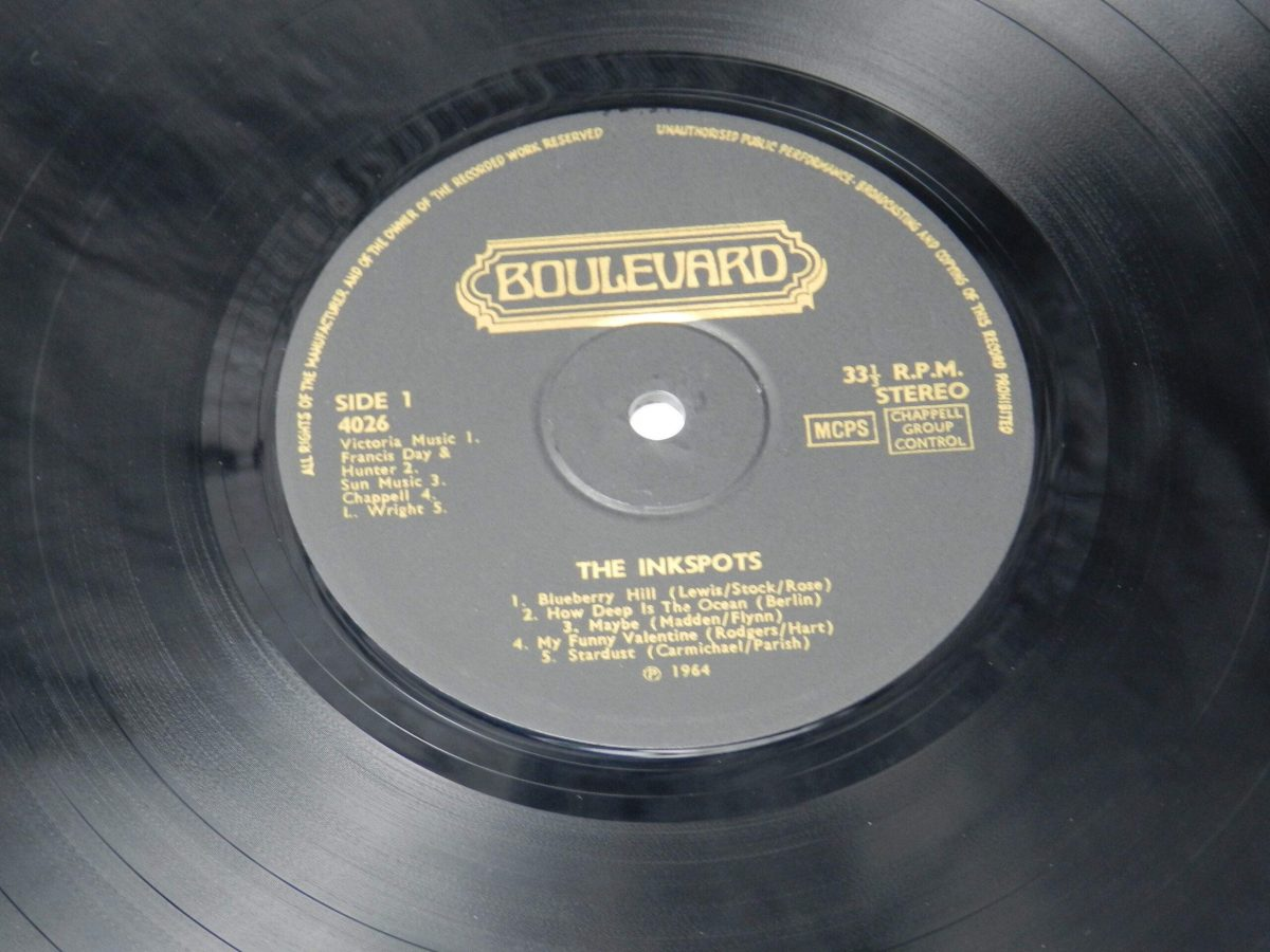 The Ink Spots – The Inkspots Sing And Play vinyl record side A label scaled