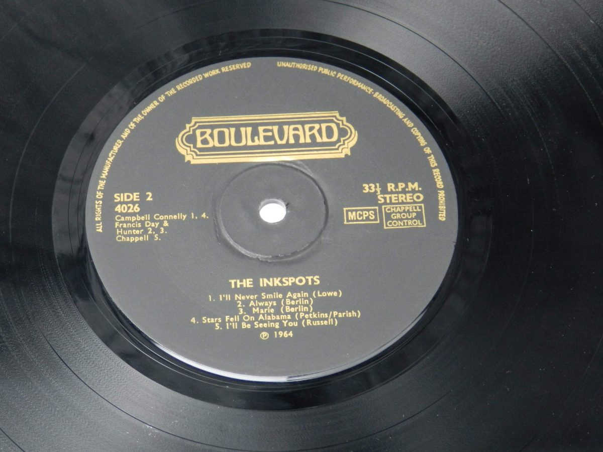 The Ink Spots – The Inkspots Sing And Play vinyl record side B label scaled