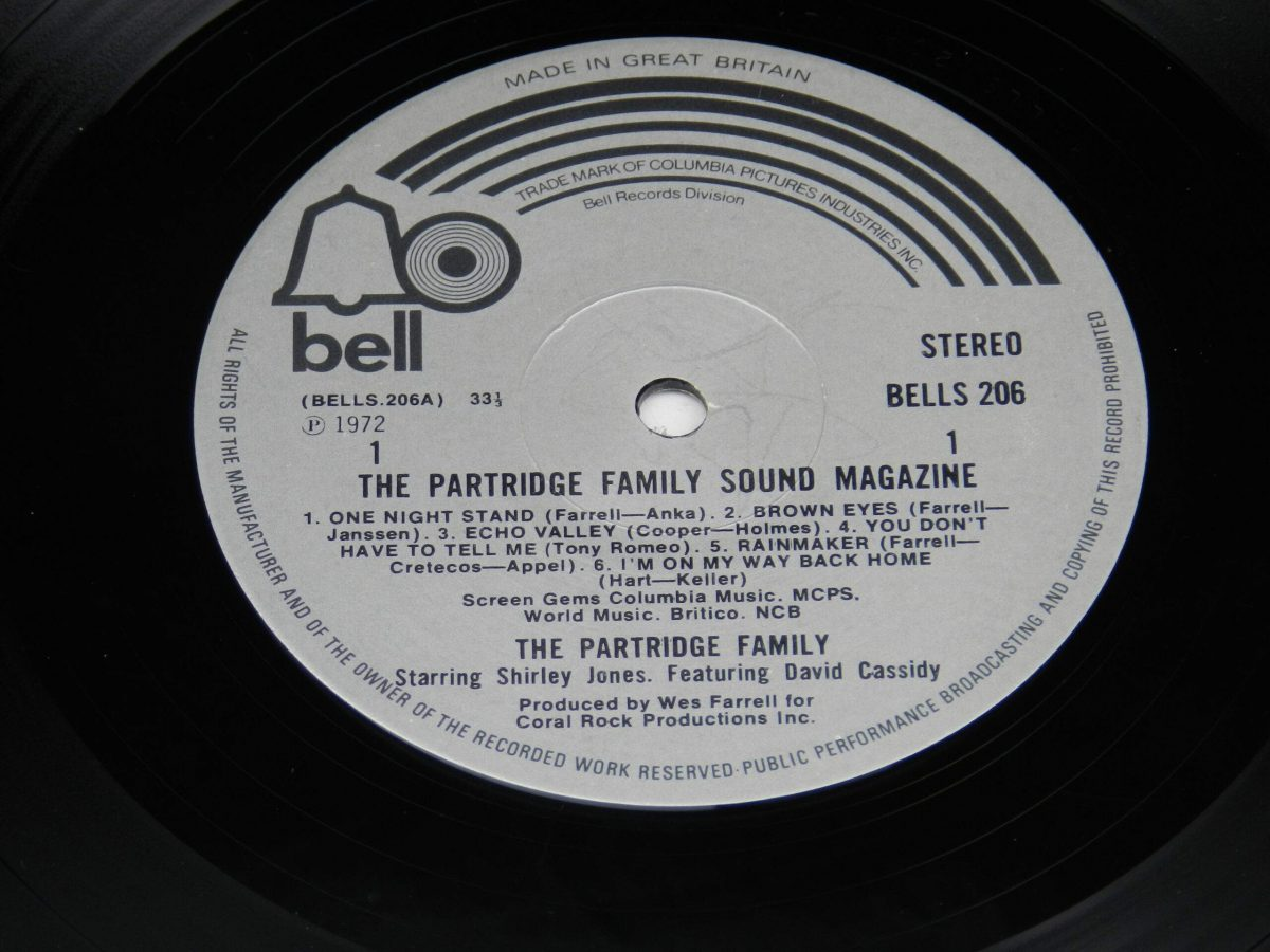 The Partridge Family – The Partridge Family Sound Magazine vinyl record side A label scaled