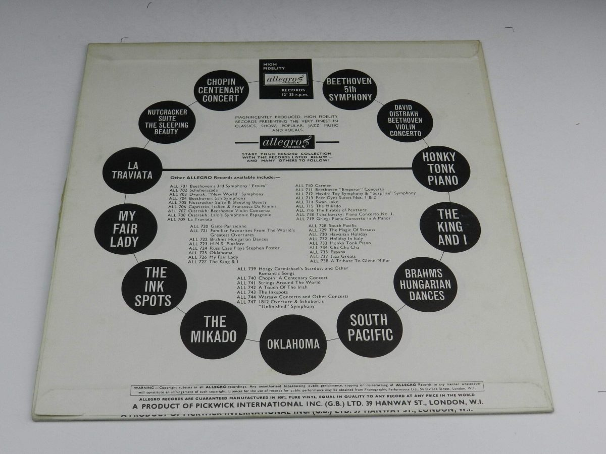 The Philharmonic Orchestra Conducted By Franz Donauer – Sleeping Beauty and The Nutcracker Suite vinyl record sleeve rear scaled