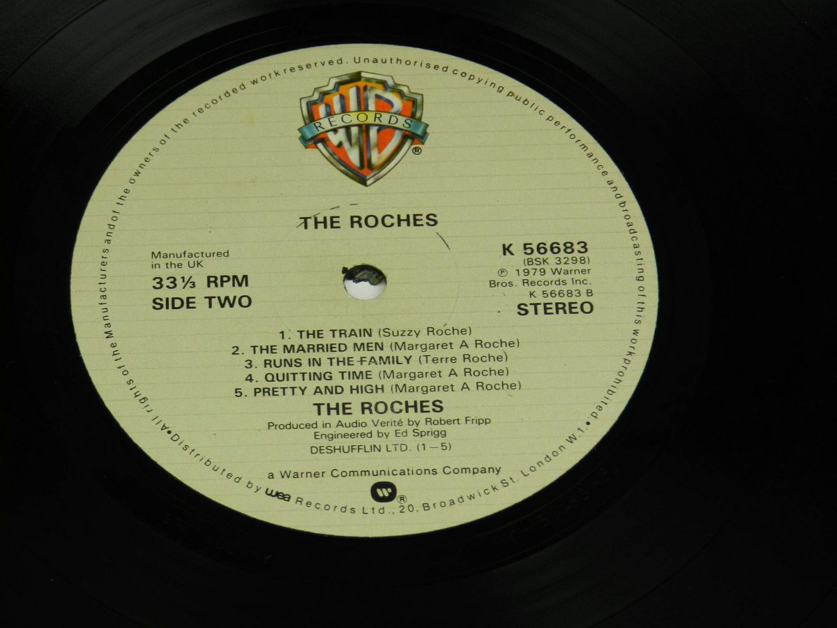 The Roches – The Roches vinyl record side B label scaled
