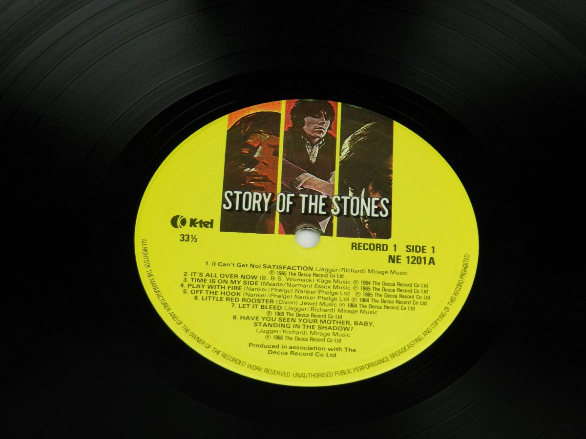 The Rolling Stones – Story Of The Stones vinyl record 1 side A label scaled