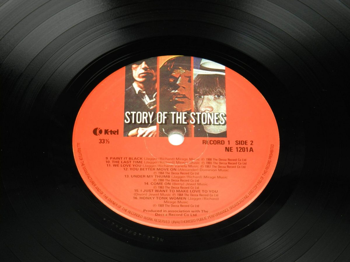 The Rolling Stones – Story Of The Stones vinyl record 1 side B label scaled