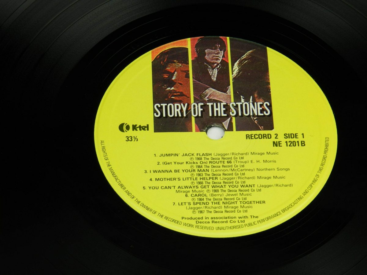 The Rolling Stones – Story Of The Stones vinyl record 2 side A label scaled