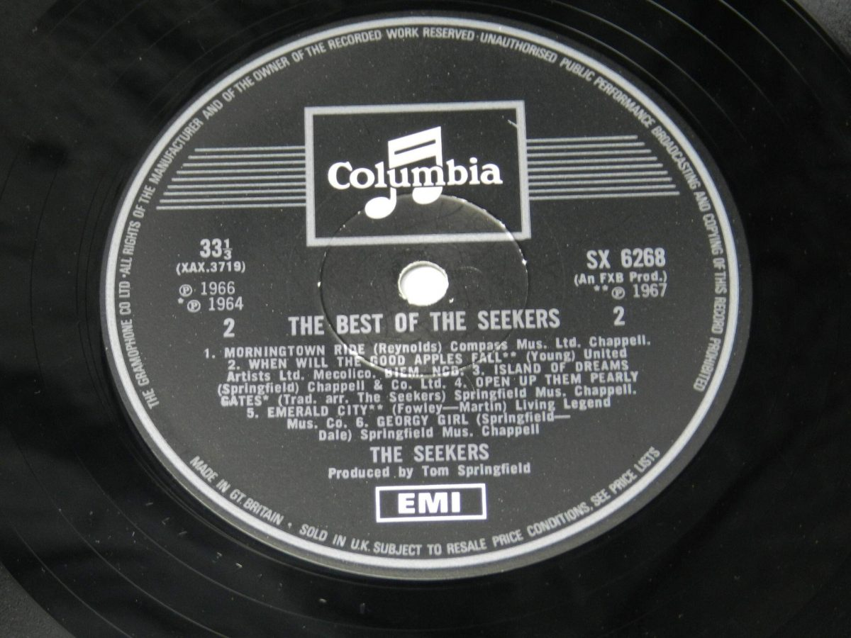 The Seekers – The Best Of The Seekers vinyl record side B label scaled