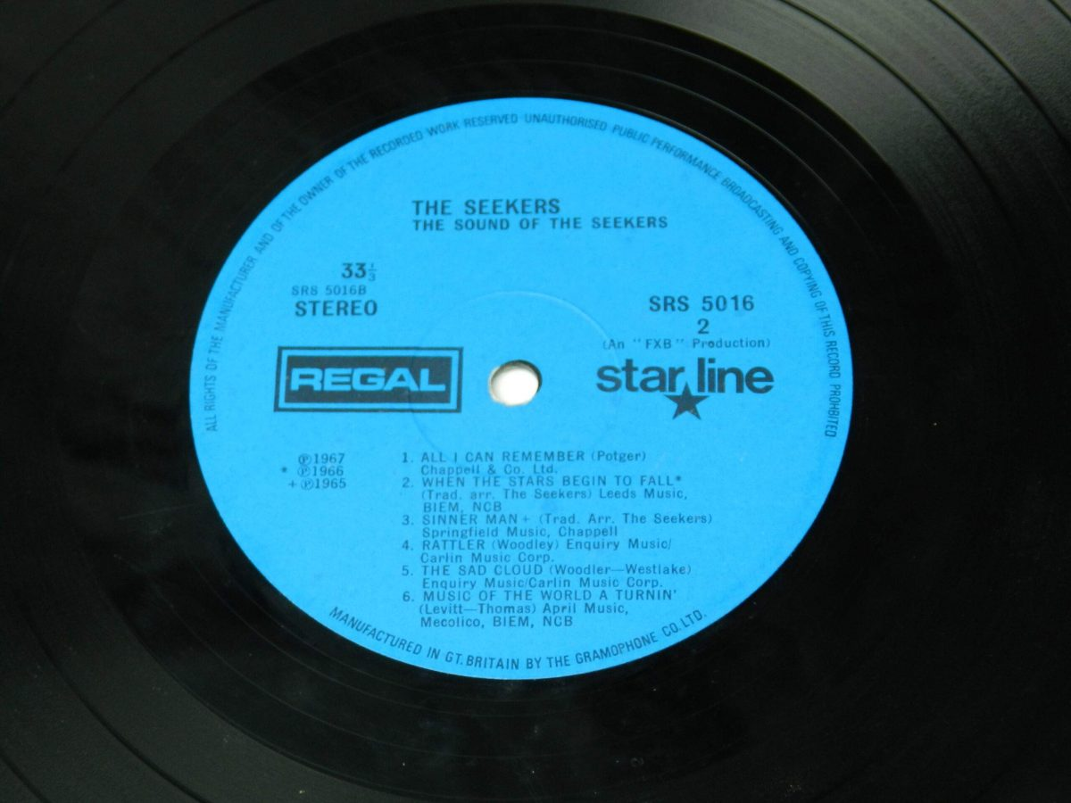 The Seekers – The Sound Of The Seekers vinyl record side B label scaled