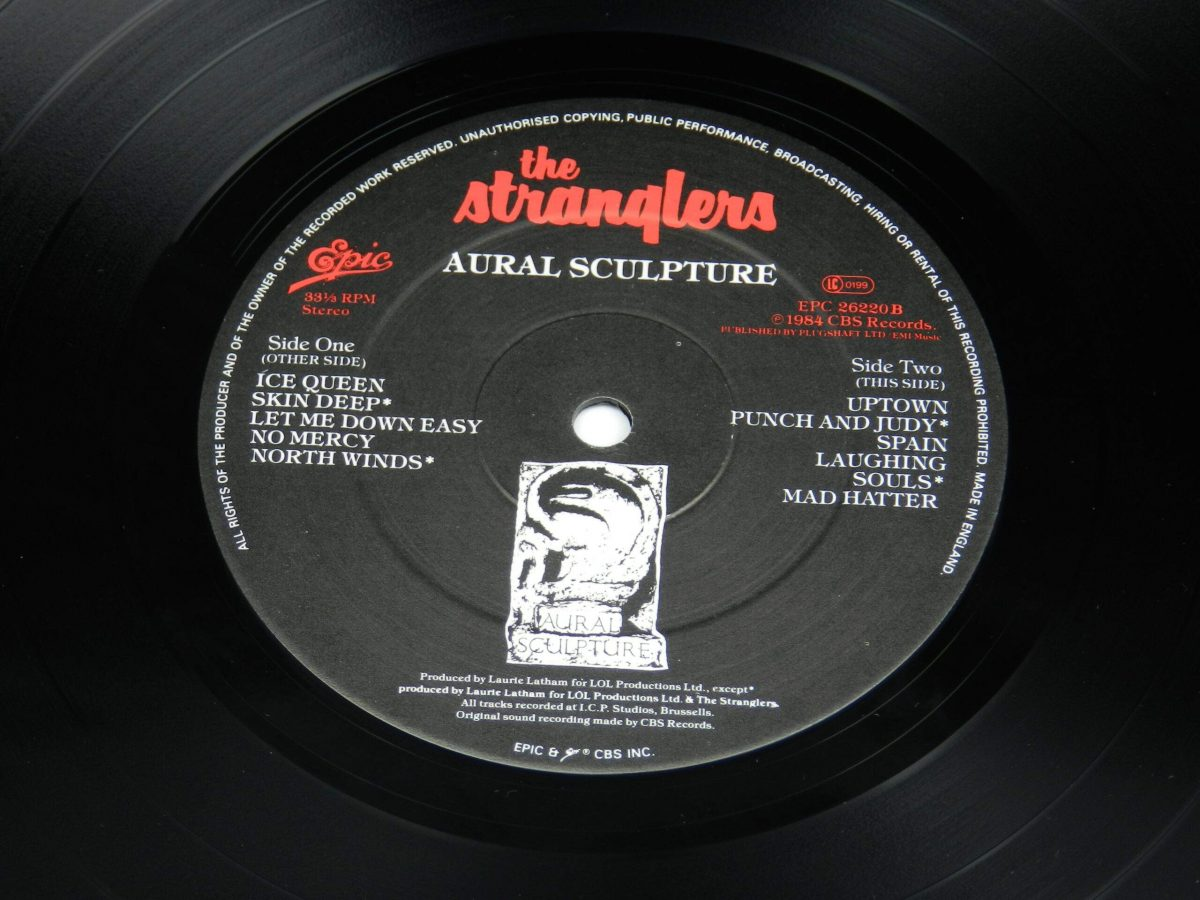 The Stranglers – Aural Sculpture vinyl record side B label scaled