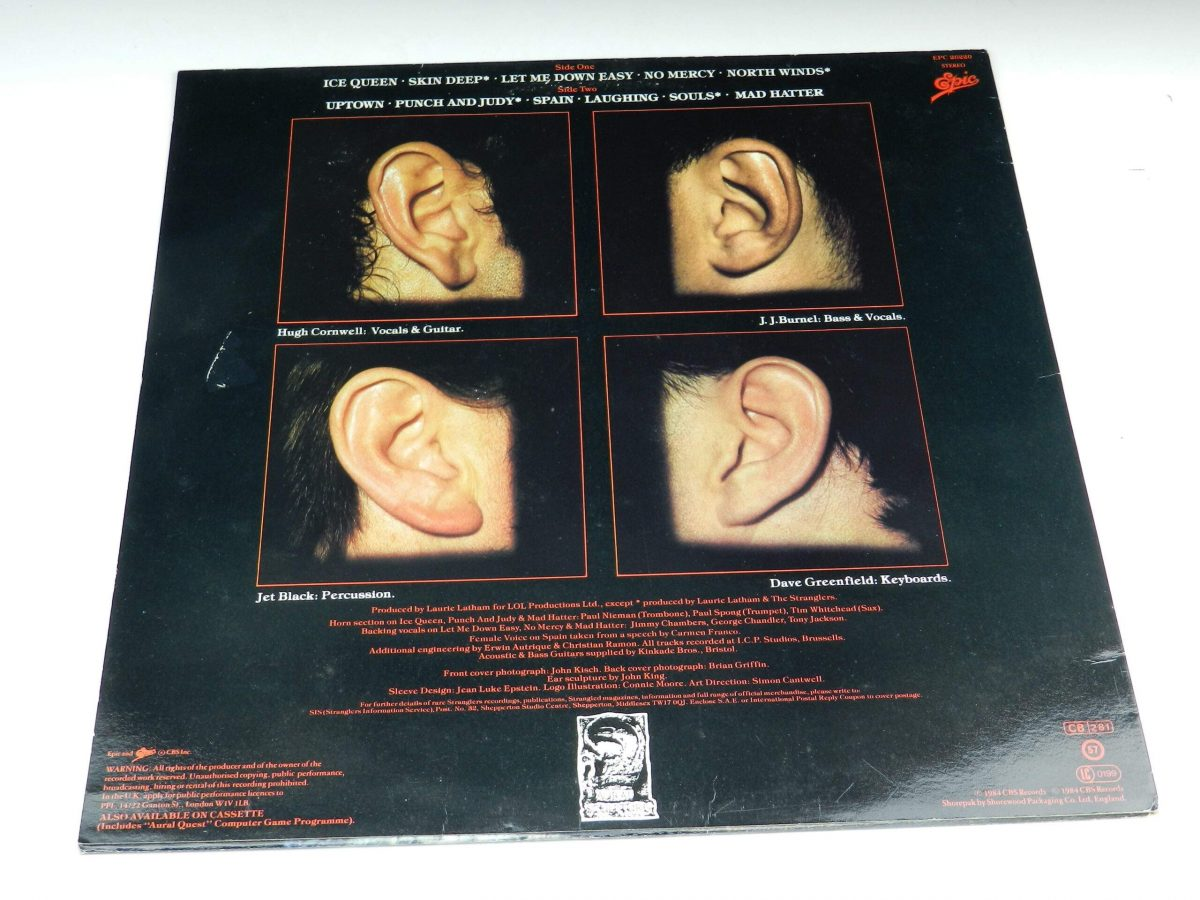 The Stranglers – Aural Sculpture vinyl record sleeve rear scaled