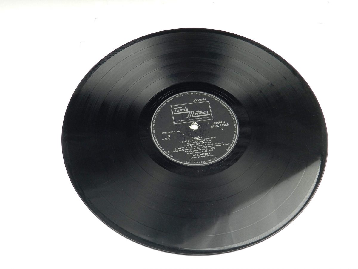 The Supremes – Touch vinyl record side B scaled