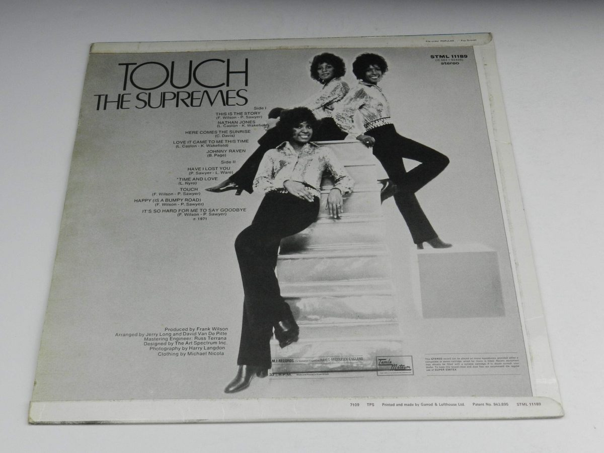 The Supremes – Touch vinyl record sleeve rear scaled