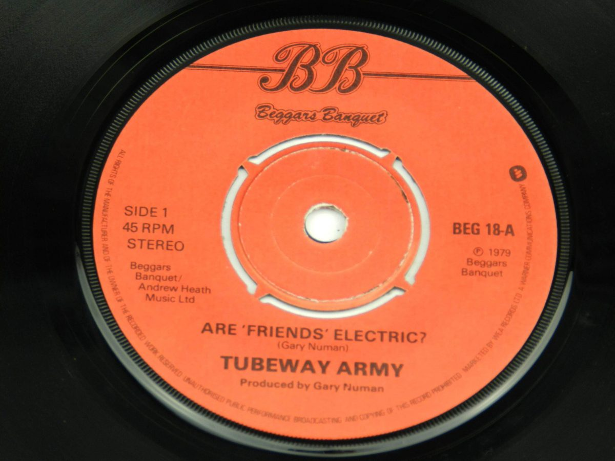 Tubeway Army – Are Friends Electric vinyl record side A label scaled