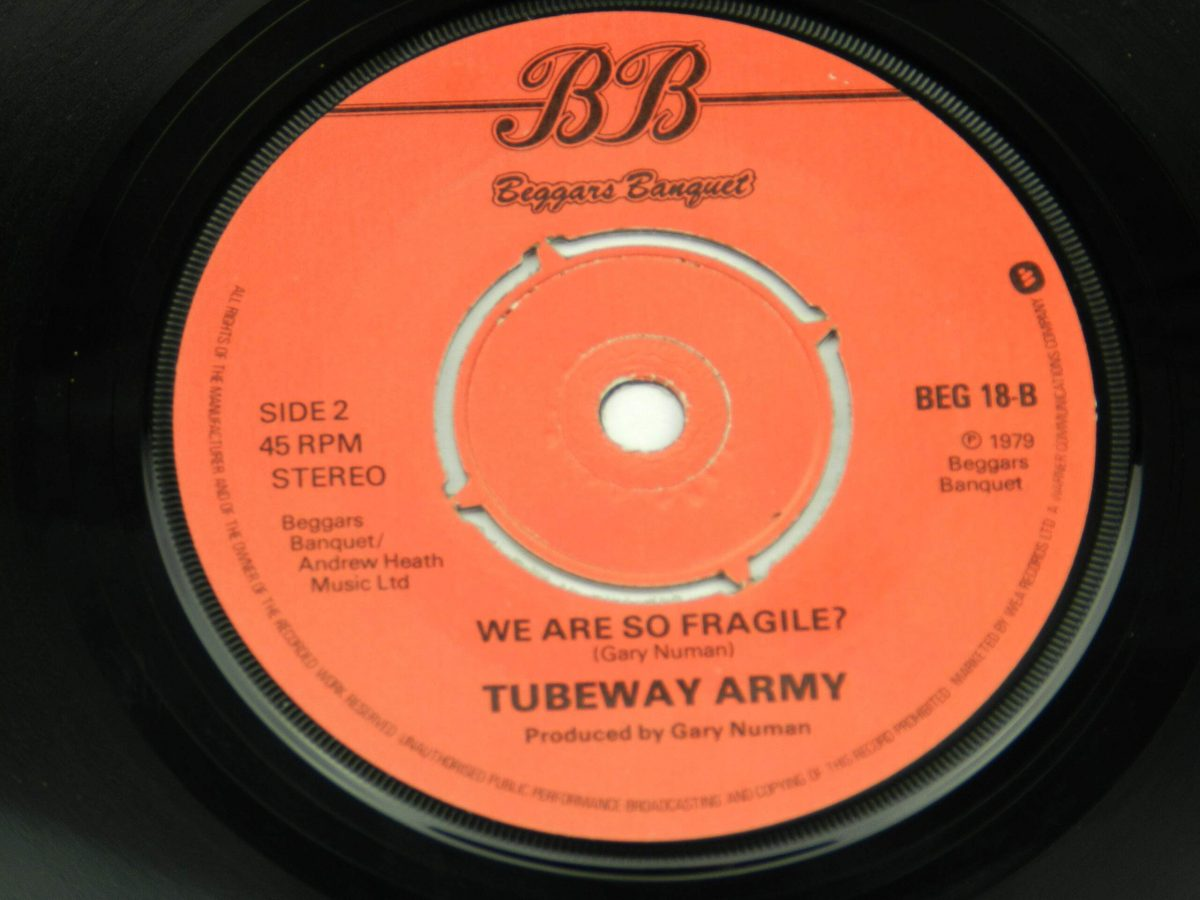 Tubeway Army – Are Friends Electric vinyl record side B label scaled