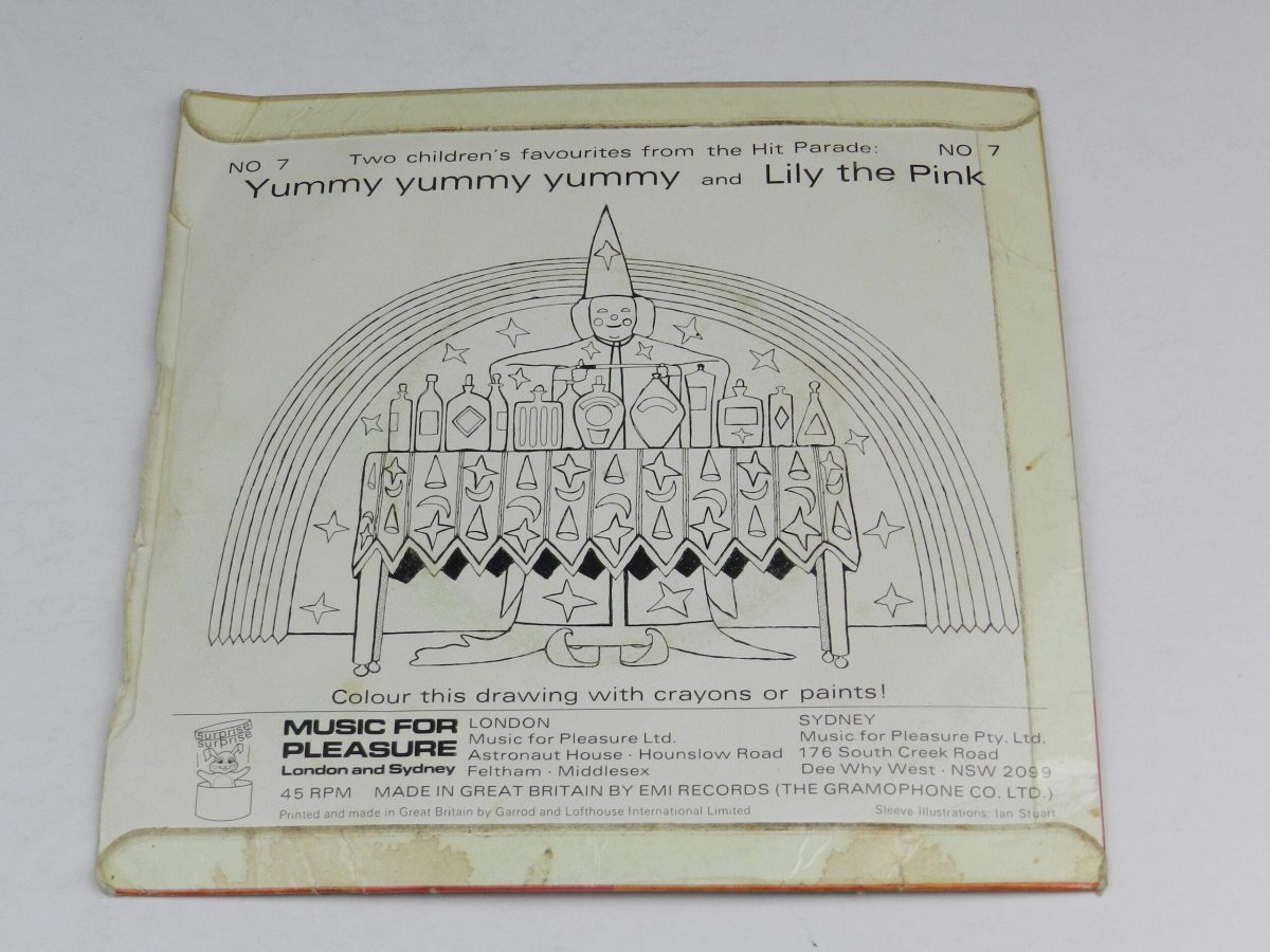 Unknown Artist – Lily The Pink Yummy Yummy Yummy vinyl record sleeve rear scaled