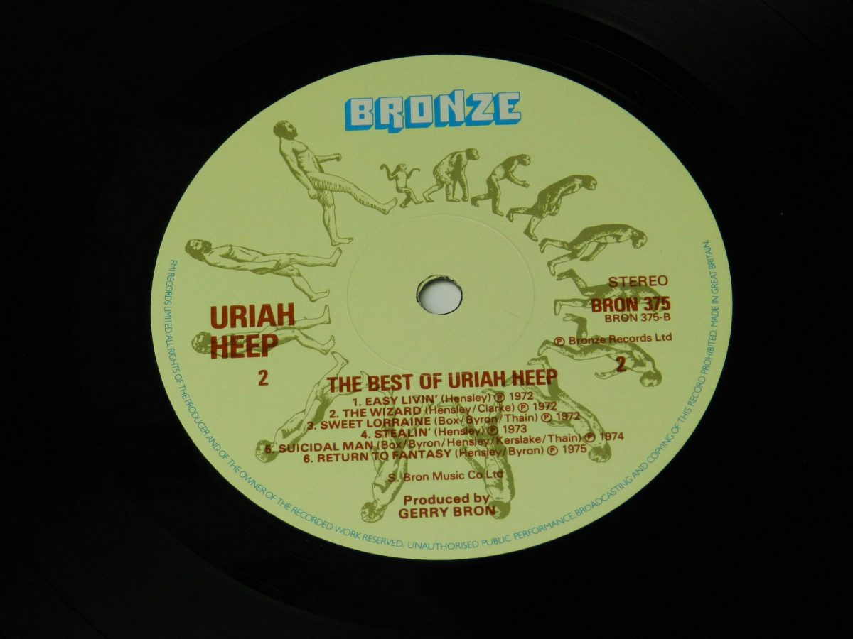 Uriah Heep – The Best Of vinyl record side B label scaled