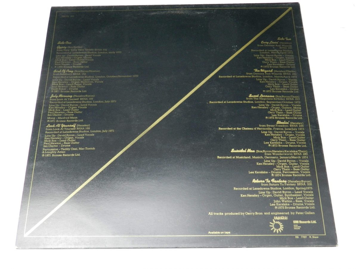 Uriah Heep – The Best Of vinyl record sleeve rear scaled
