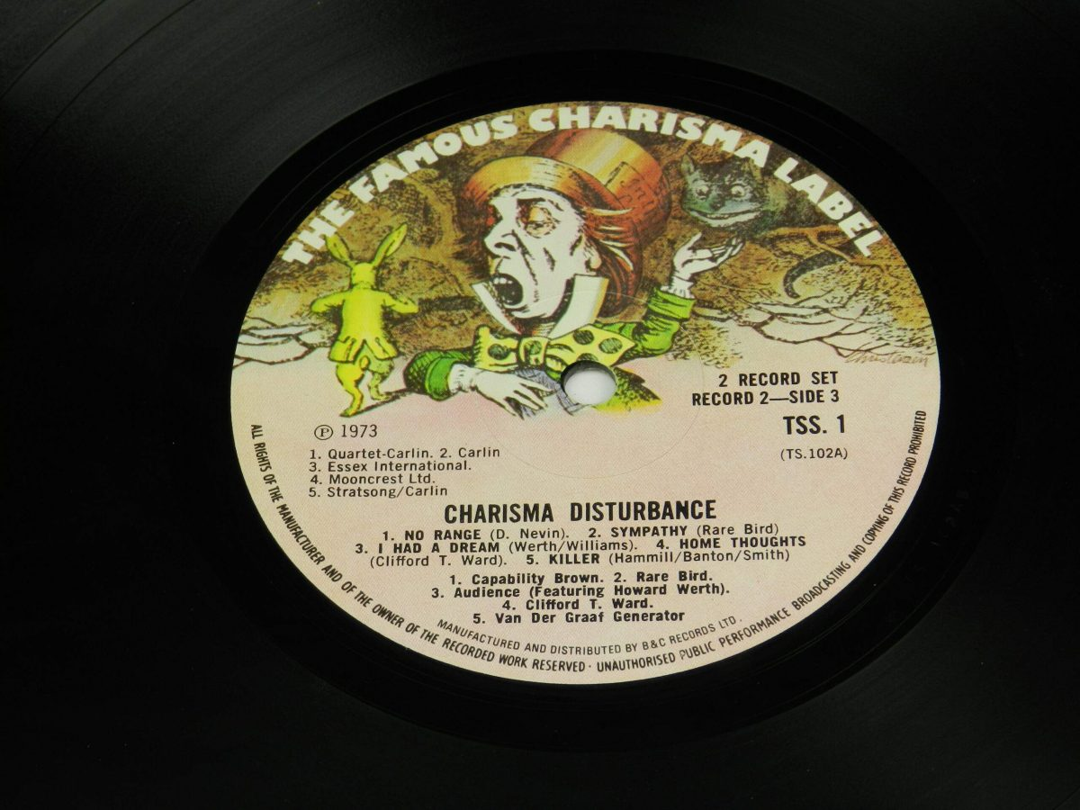 Various – Charisma Disturbance vinyl record 2 side A label scaled