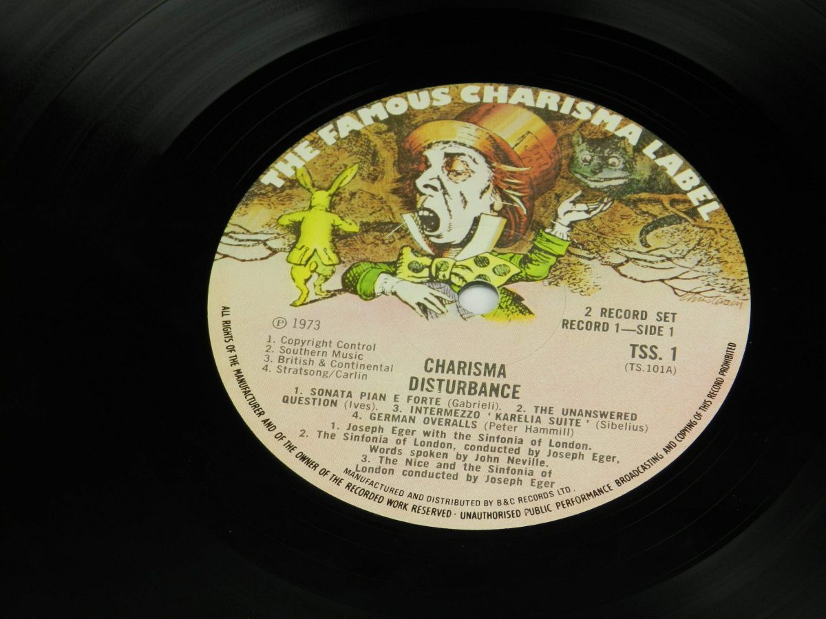Various – Charisma Disturbance vinyl record side A label scaled