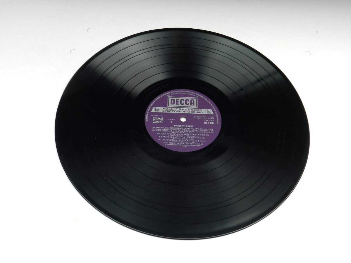 Various – Favourite Opera Famous Solos Duets And Choruses vinyl record 1 side A scaled