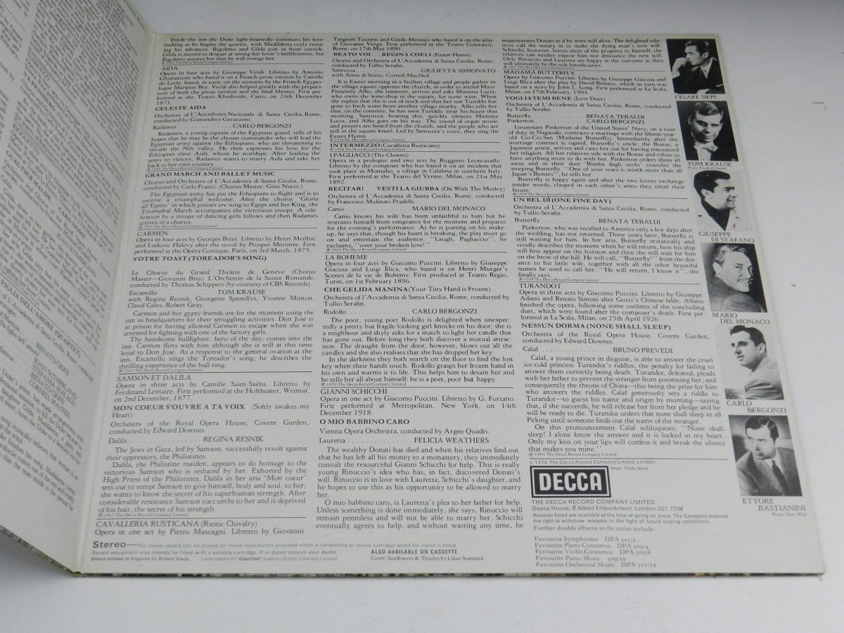 Various – Favourite Opera Famous Solos Duets And Choruses vinyl record sleeve gatefold 2 scaled