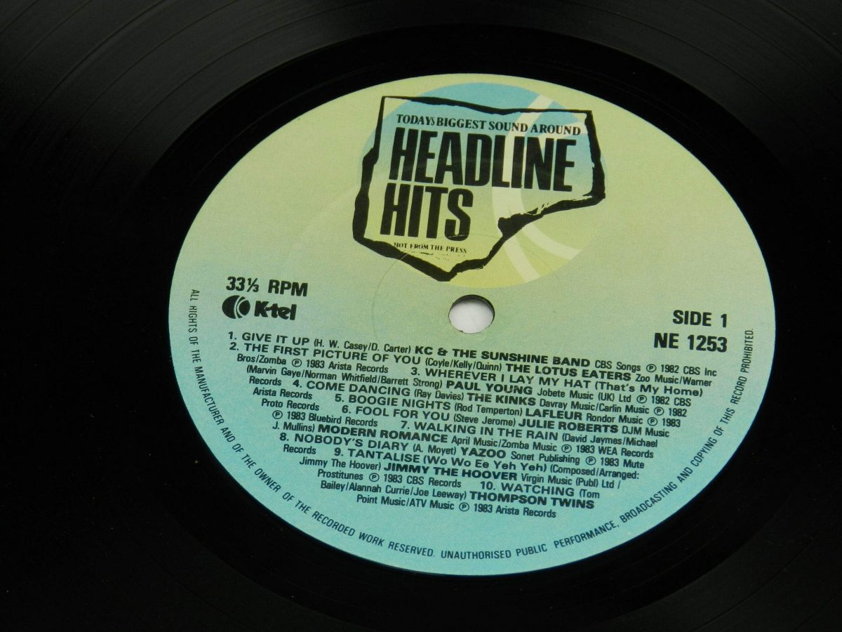 Various – Headline Hits vinyl record side A label scaled