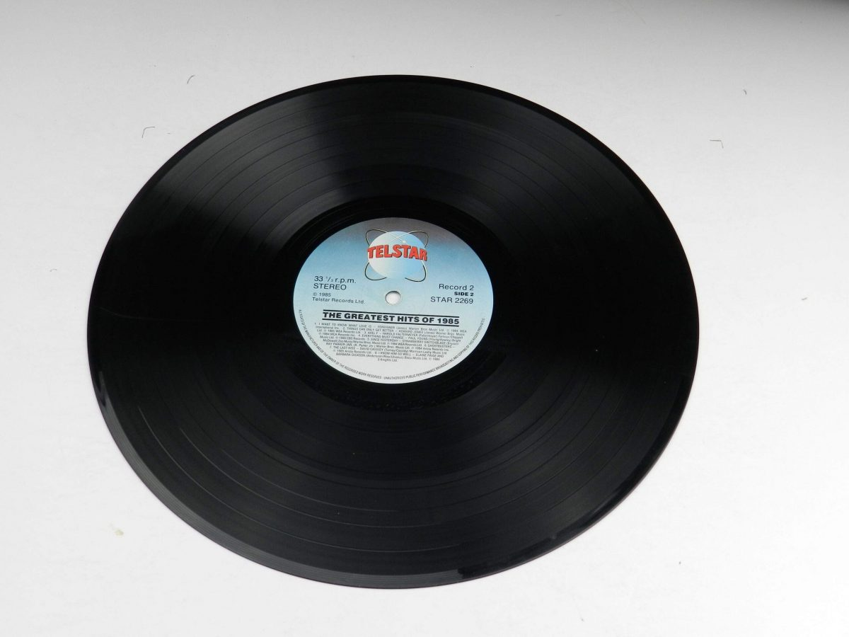 Various – The Greatest Hits Of 1985 vinyl record 1 side B scaled