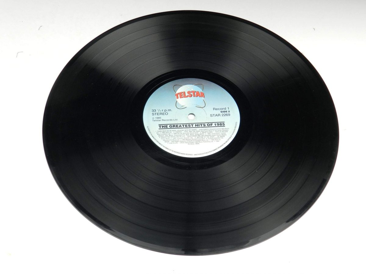 Various – The Greatest Hits Of 1985 vinyl record 2 side B scaled