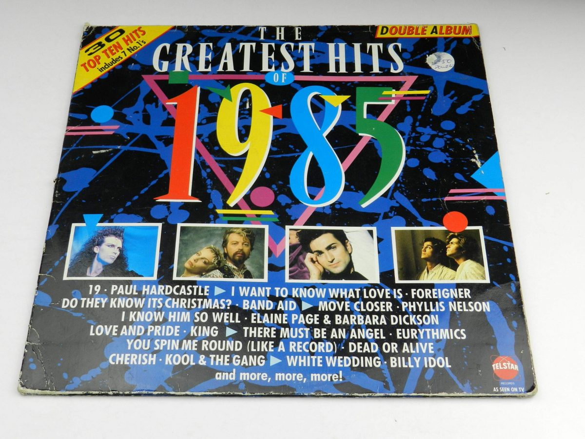 Various – The Greatest Hits Of 1985 vinyl record sleeve scaled