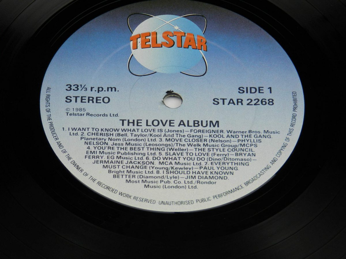 Various – The Love Album vinyl record side A label scaled