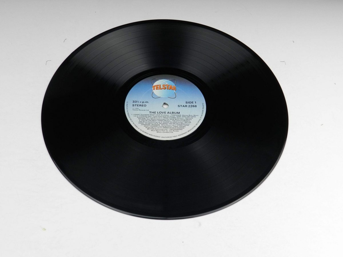 Various – The Love Album vinyl record side A scaled