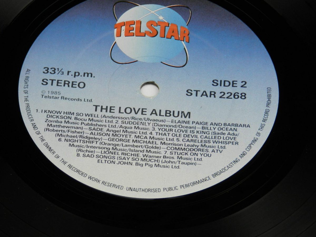 Various – The Love Album vinyl record side B label scaled