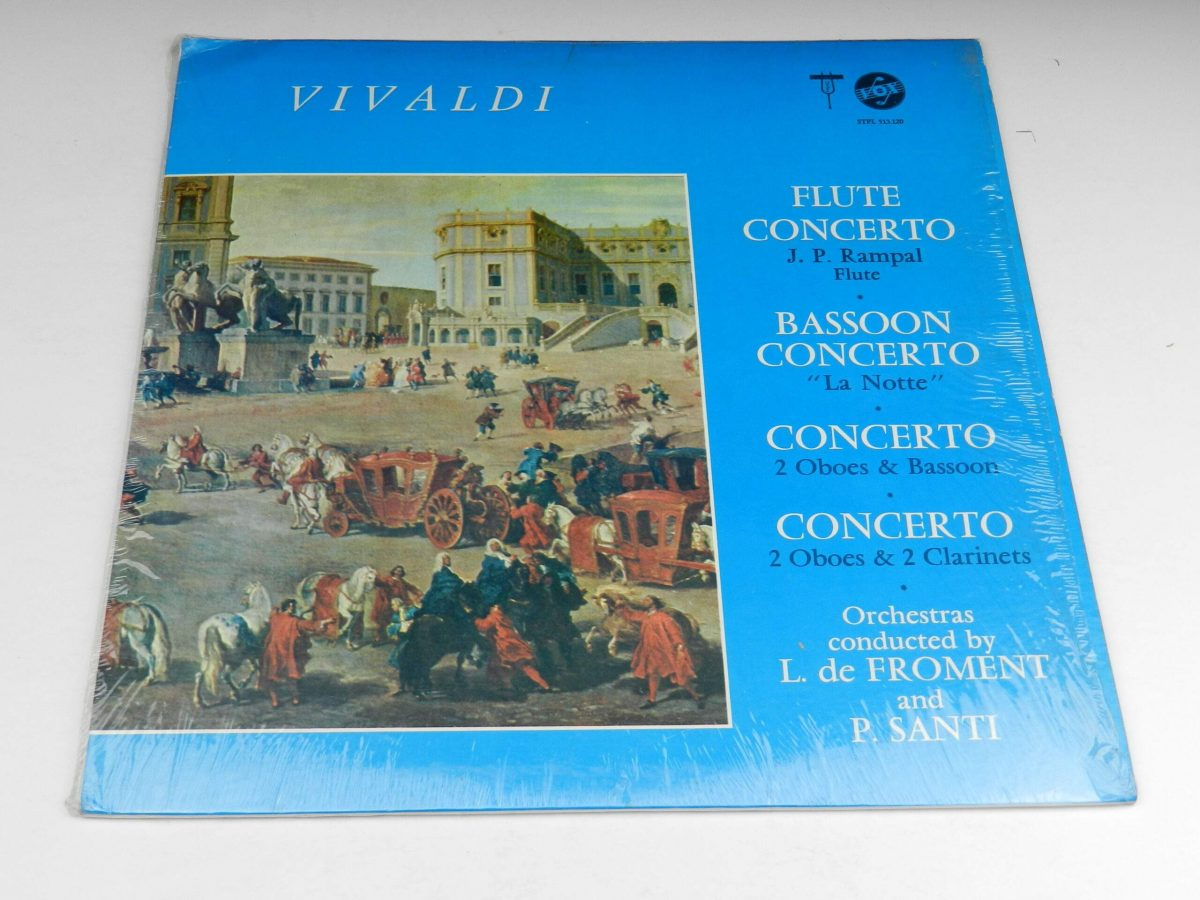 Vivaldi – Concerti For Flute Bassoon 2 Oboes and Bassoon2 Oboes and 2 Clarinets vinyl record sleeve scaled