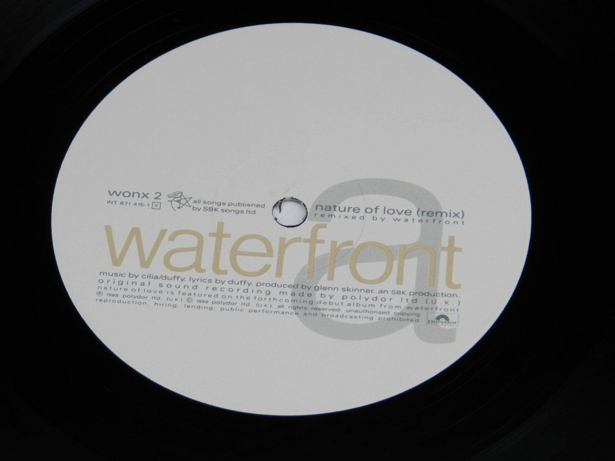 Waterfront – Nature Of Love vinyl record side B label scaled