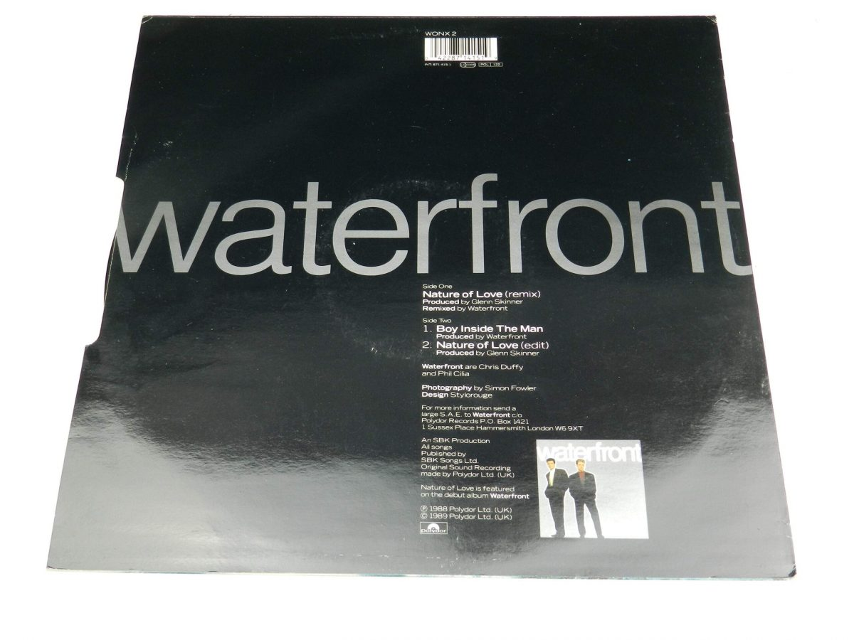 Waterfront – Nature Of Love vinyl record sleeve rear scaled
