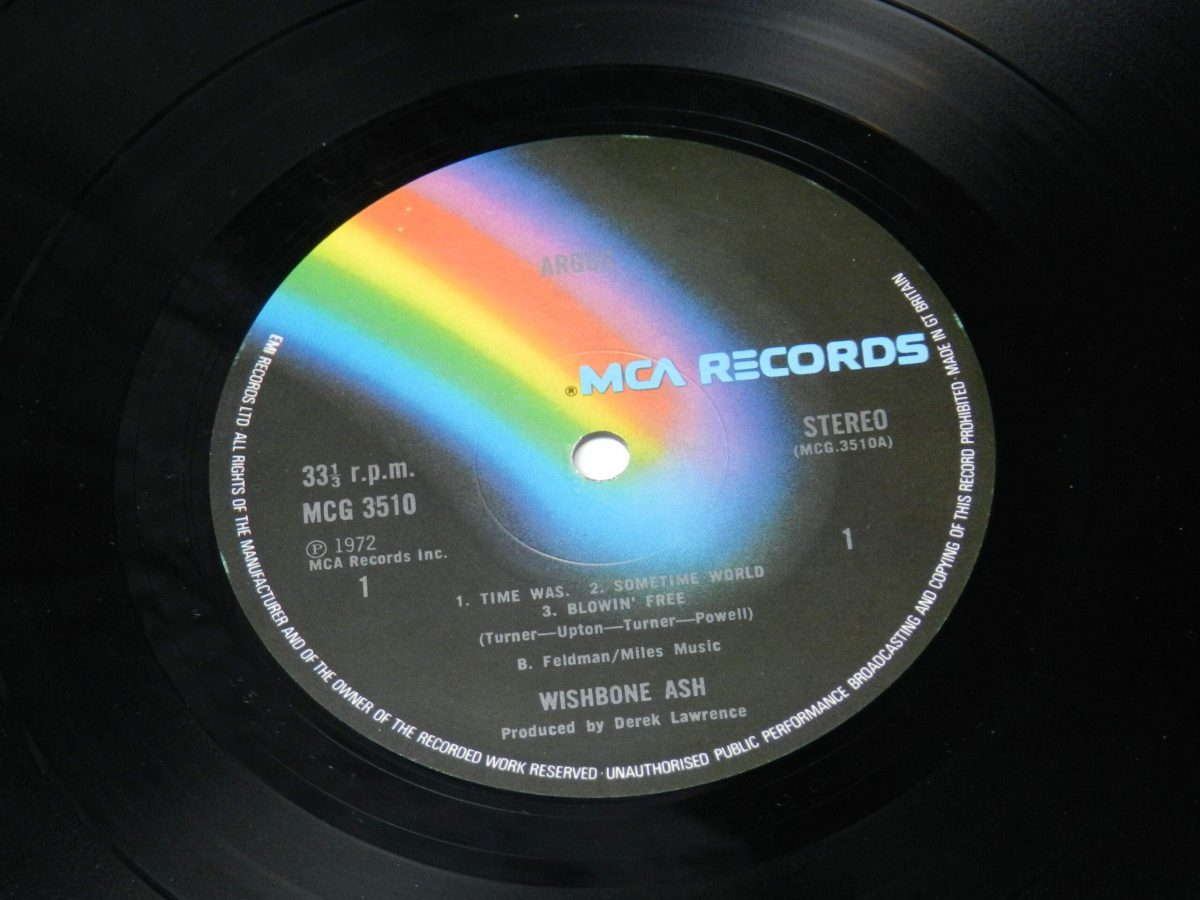 Wishbone Ash – Argus vinyl record side A label scaled
