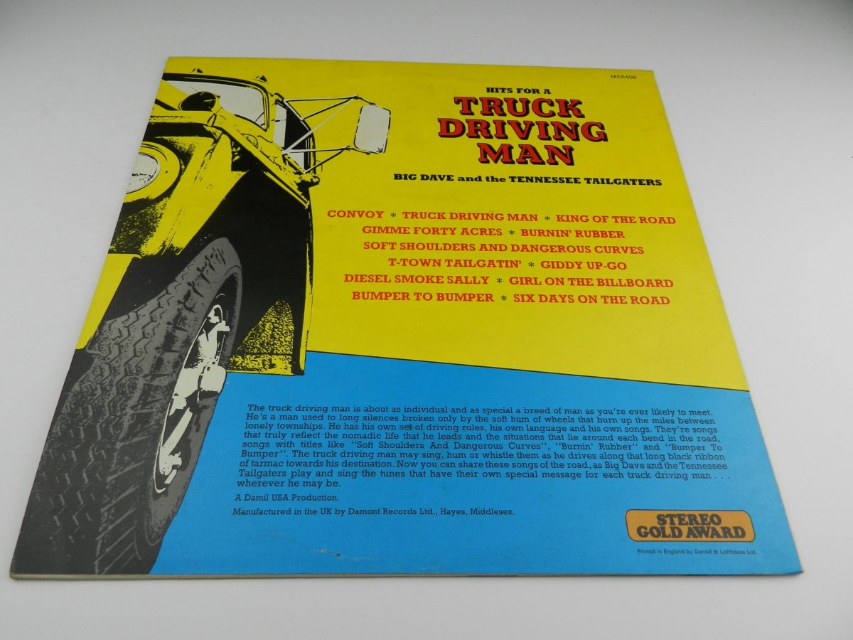 Big Dave And The Tennessee Tailgaters – Hits For A Truck Driving Man vinyl record sleeve rear scaled