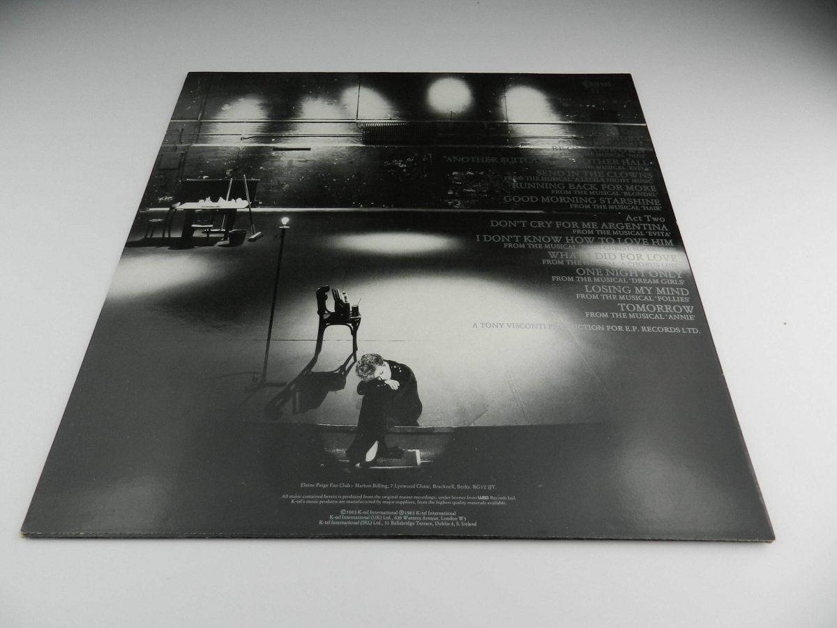 Elaine Paige – Stages vinyl record sleeve rear scaled