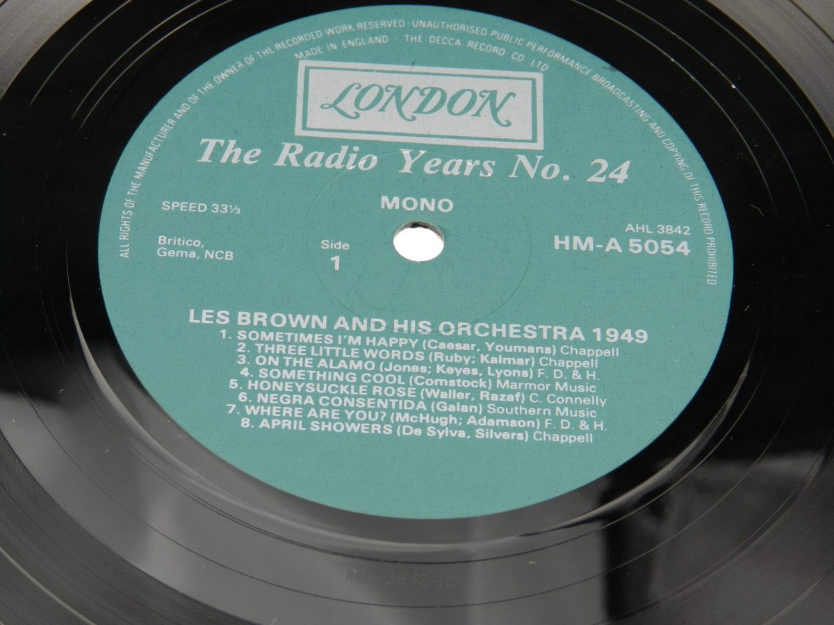 Les Brown And His Orchestra – 1949 vinyl record side A label scaled