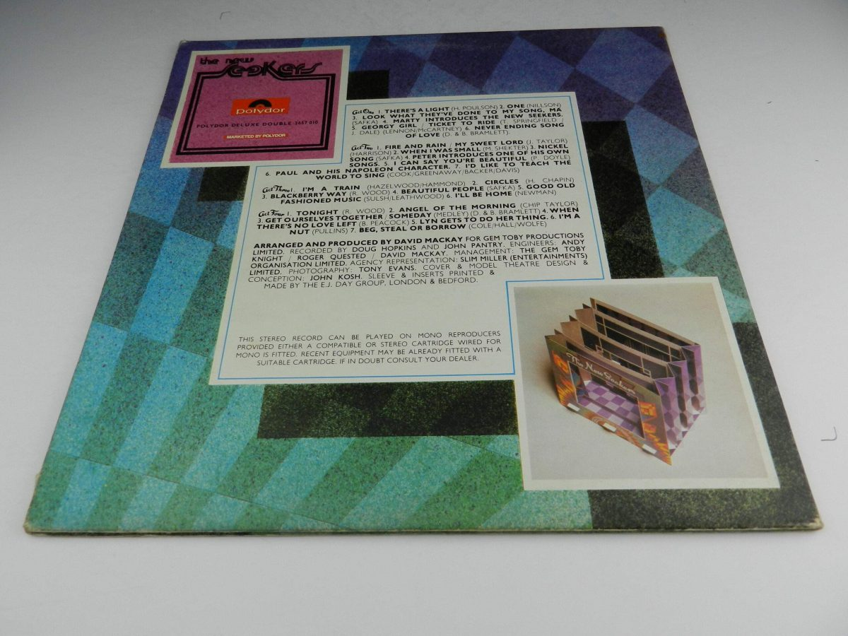 The New Seekers – Live At The Royal Albert Hall vinyl record sleeve rear scaled