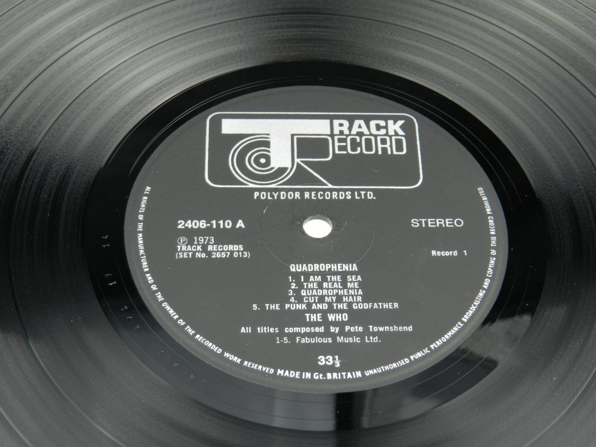 The Who – Quadrophenia vinyl record 1 side A label scaled