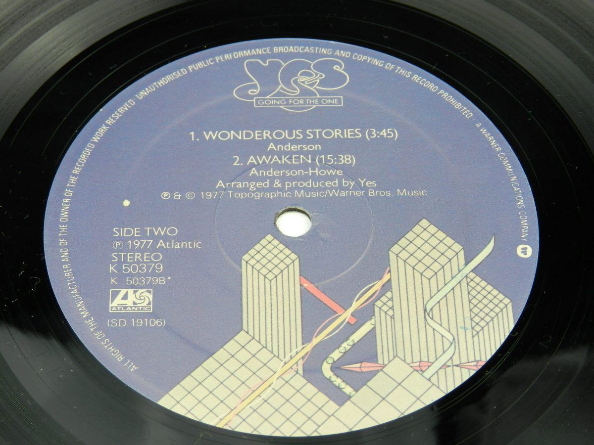 Yes – Going For The One vinyl record side B label scaled