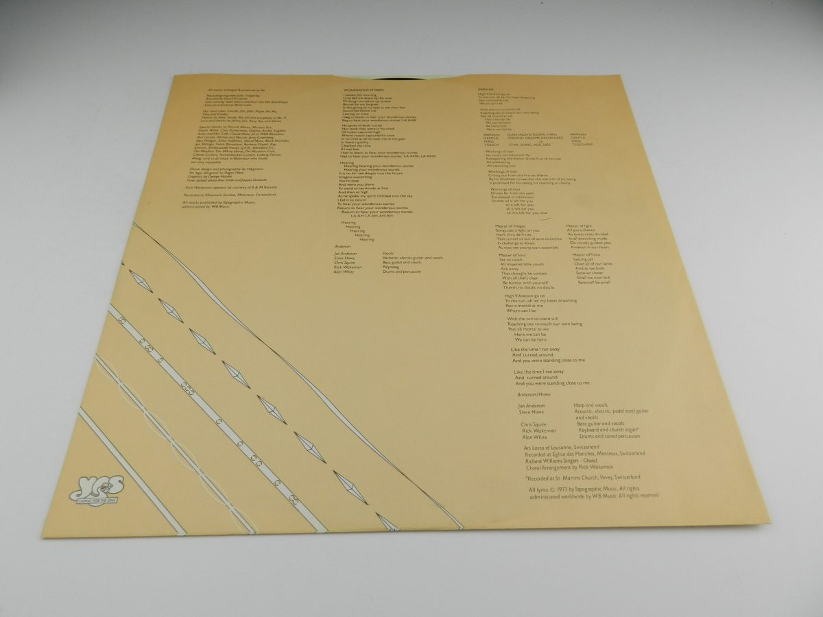 Yes – Going For The One vinyl record sleeve inner 1 scaled