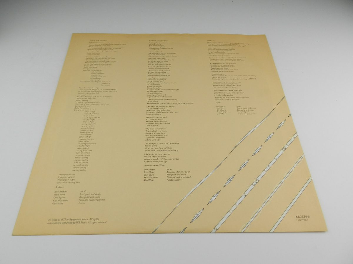 Yes – Going For The One vinyl record sleeve inner 2 scaled