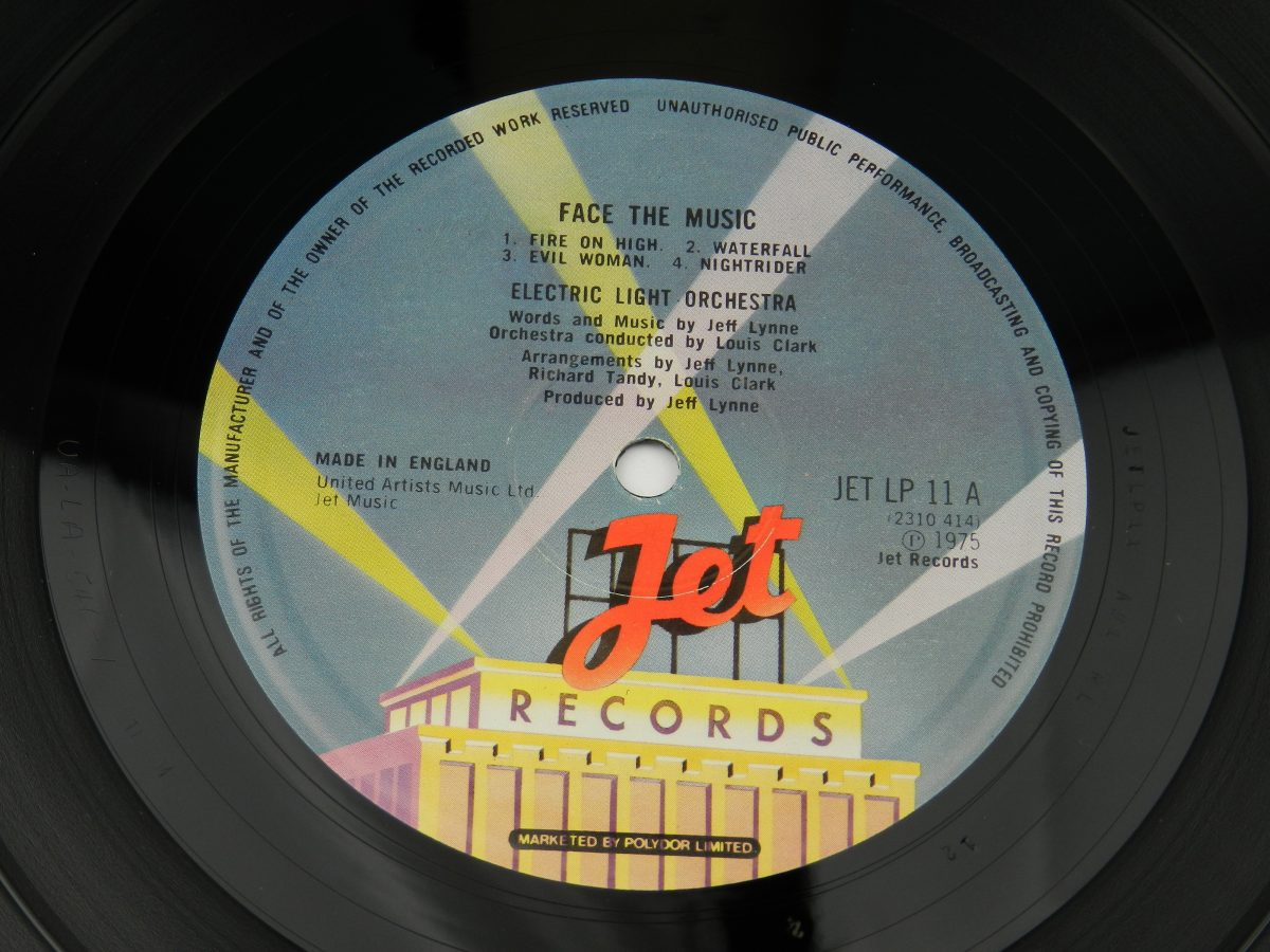 Electric Light Orchestra – Face The Music vinyl record side A label scaled