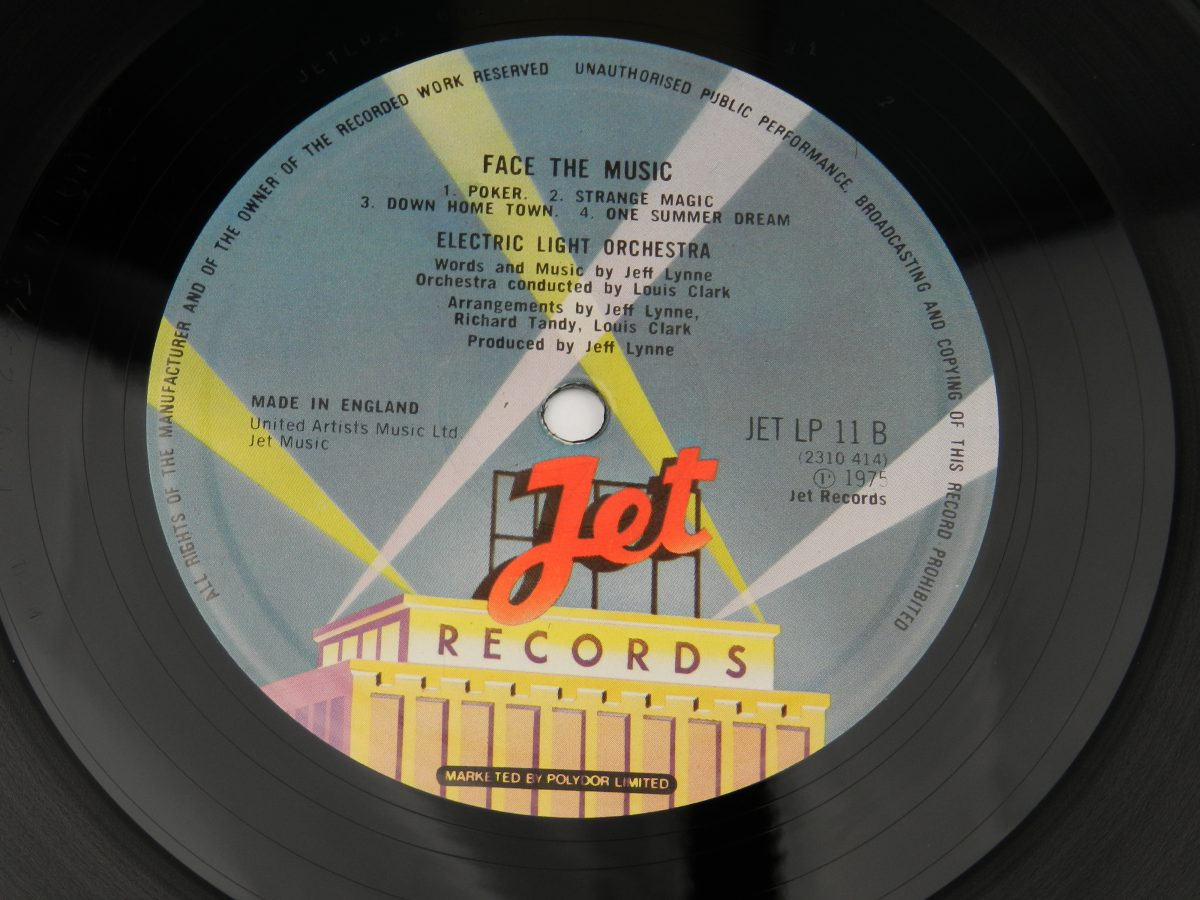 Electric Light Orchestra – Face The Music vinyl record side B label scaled
