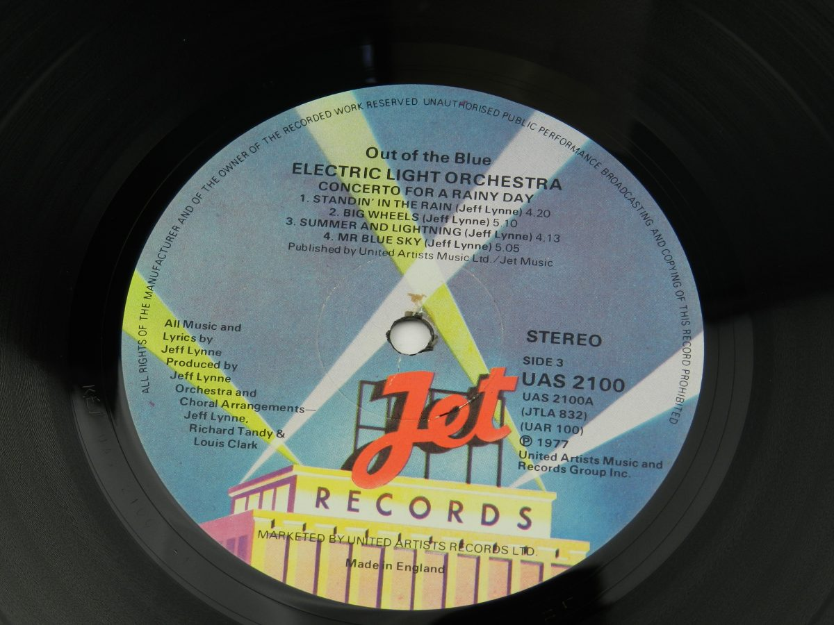Electric Light Orchestra – Out Of The Blue vinyl record 2 side A label scaled