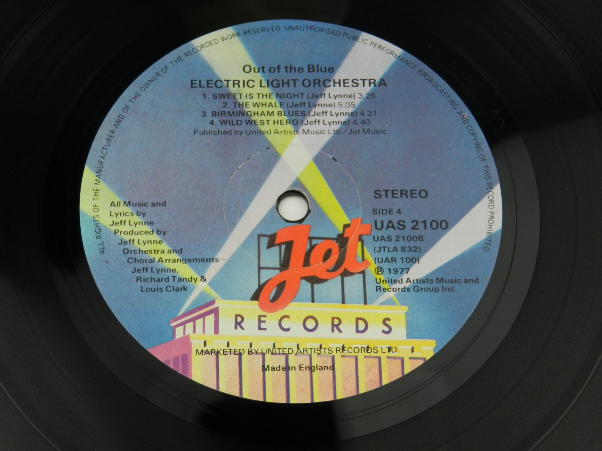 Electric Light Orchestra – Out Of The Blue vinyl record 2 side B label scaled