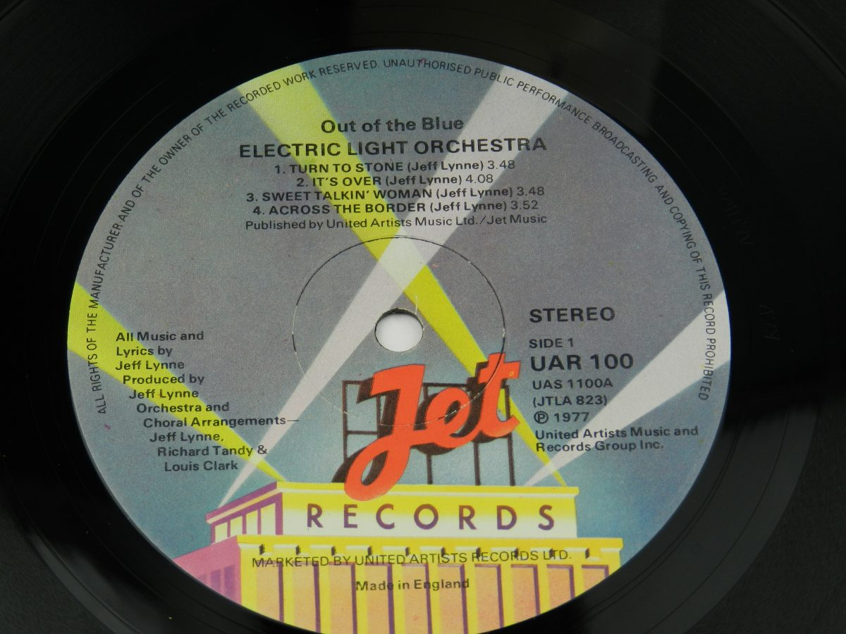 Electric Light Orchestra – Out Of The Blue vinyl record side A label scaled