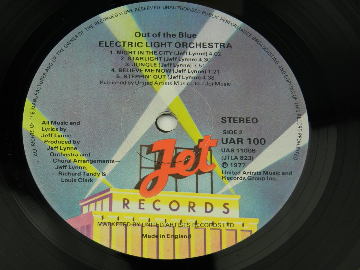 Electric Light Orchestra – Out Of The Blue vinyl record side B label scaled