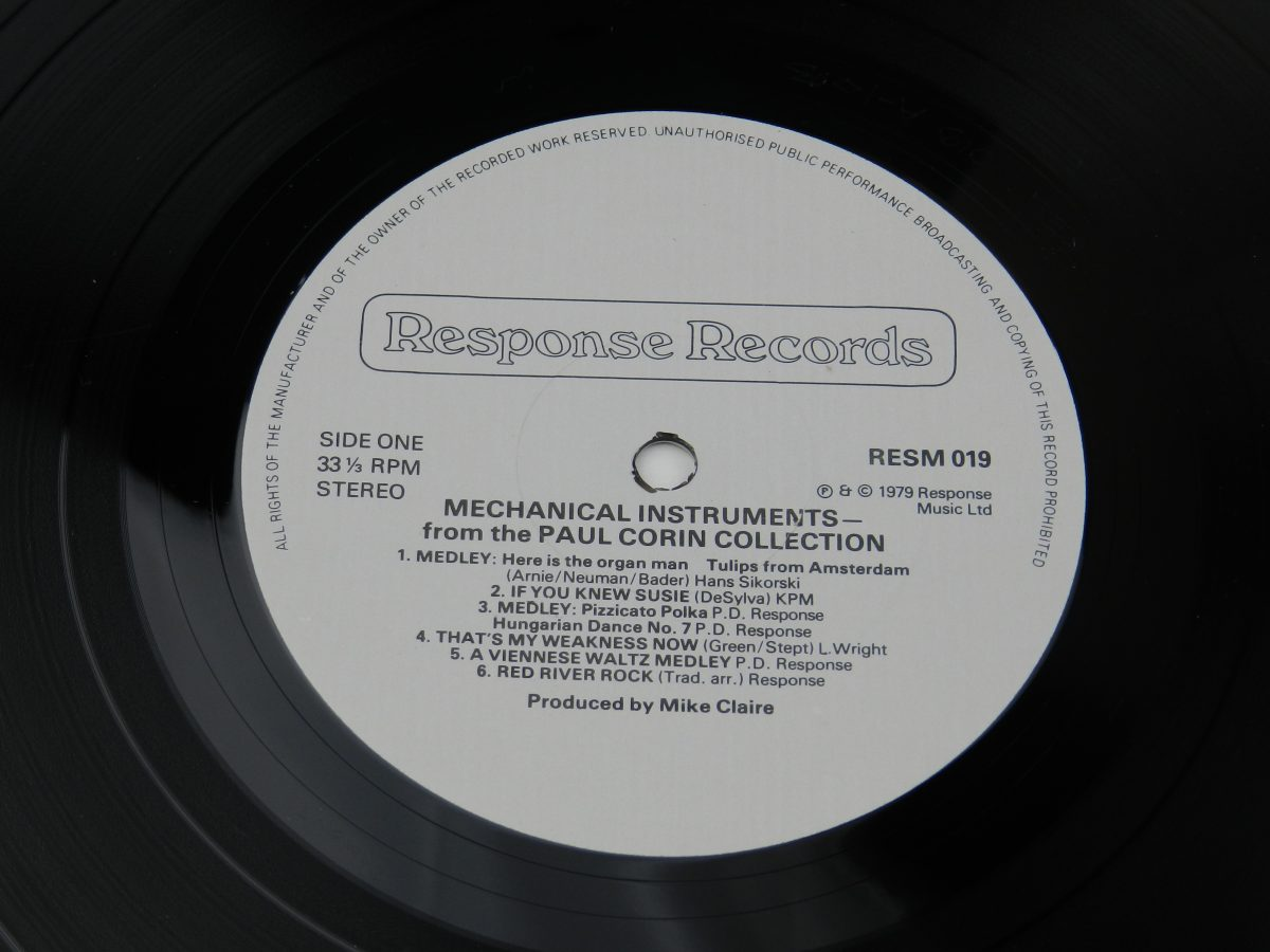 Various – Mechanical Instruments vinyl record side A label scaled
